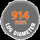 914mm log diameter sawmill