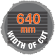 640mm width of cut sawmill