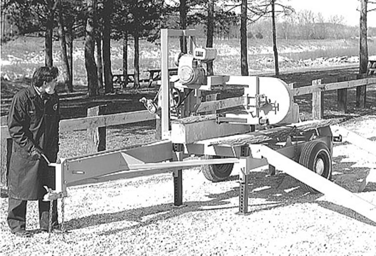 Laskowski y su aserradero Wood-Mizer