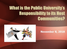 What is the Public University's Responsibility to its Host Communities?