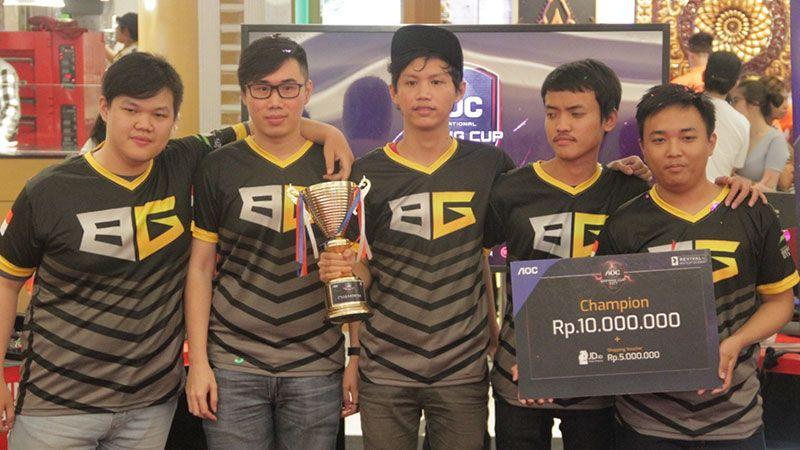 Barol Gaming Ukir Prestasi di AOC Invitational Gaming Cup