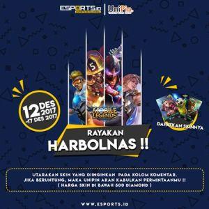 [Pengumuman Pemenang] HARBOLNAS Bersama UniPin, Berhadiah SKIN Mobile Legends GRATIS!