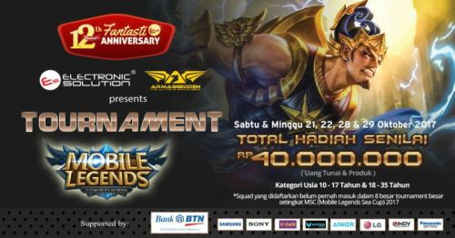 Rayakan HUT ke-12, Electronic Solution Gelar Turnamen Mobile Legends