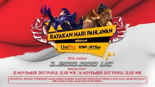 [Pengumuman Pemenang] Rayakan Hari Pahlawan Bersama UniPin dan Esports.ID