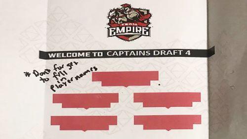 Sambutan Satir nan Menghibur Bagi Peserta Captain's Draft Minor