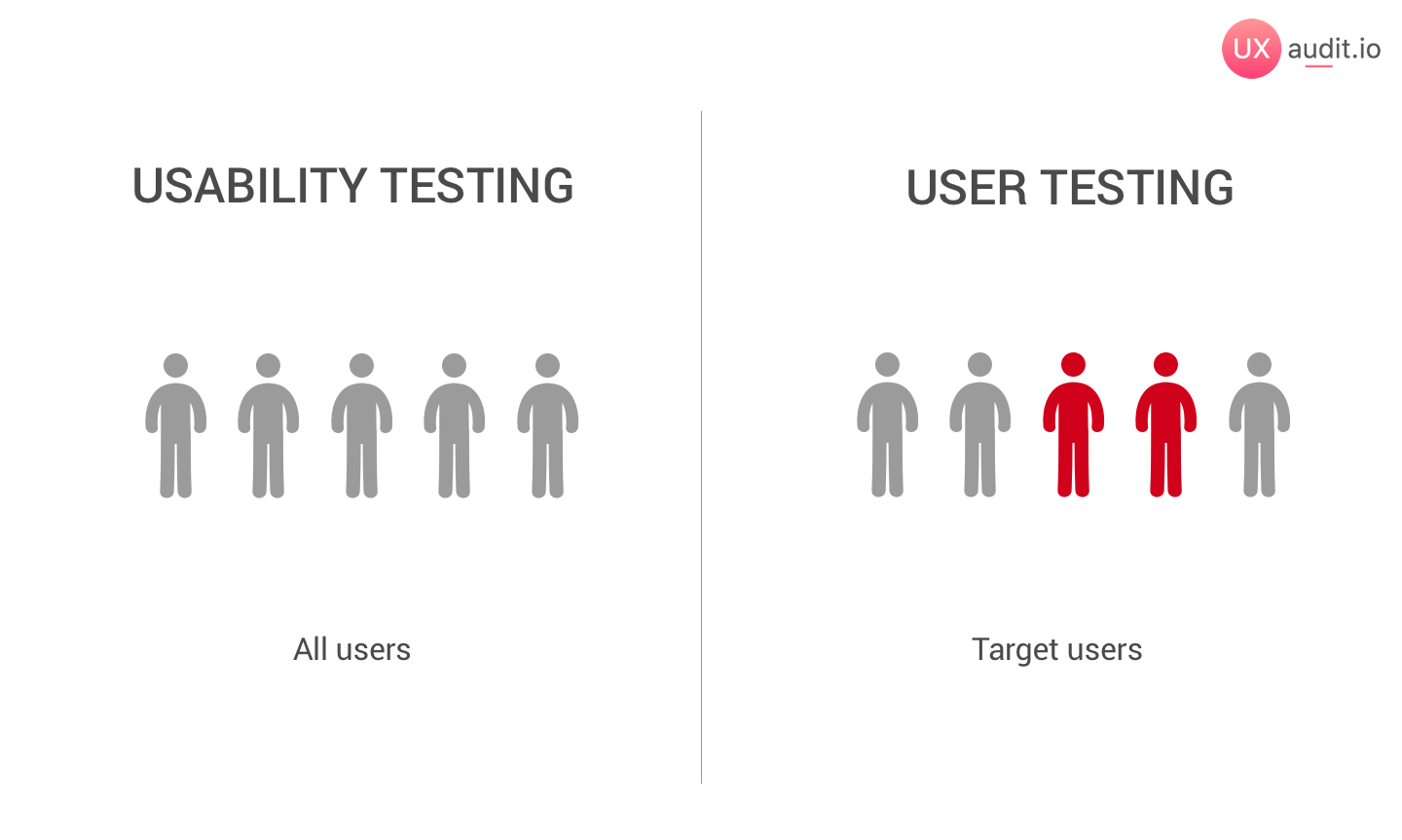 usability testing audience