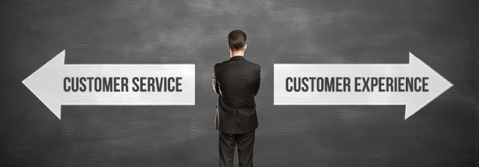 difference between customer experience and customer service