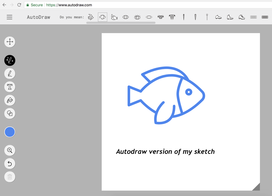 AI in Google autodraw