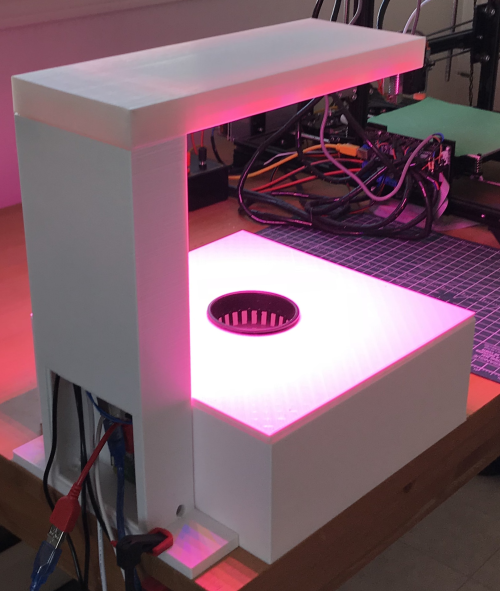 Indoor Agriculture Robot - back - on