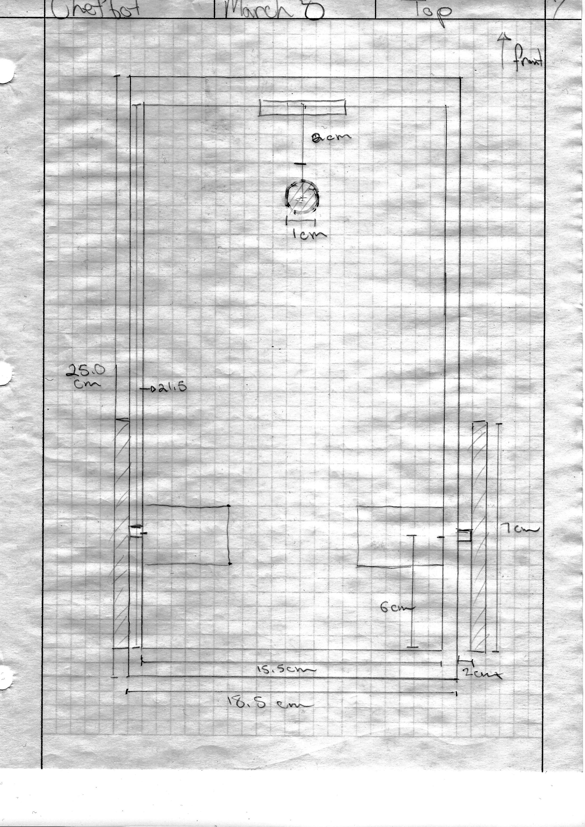 Drawing of Chefbot - 1