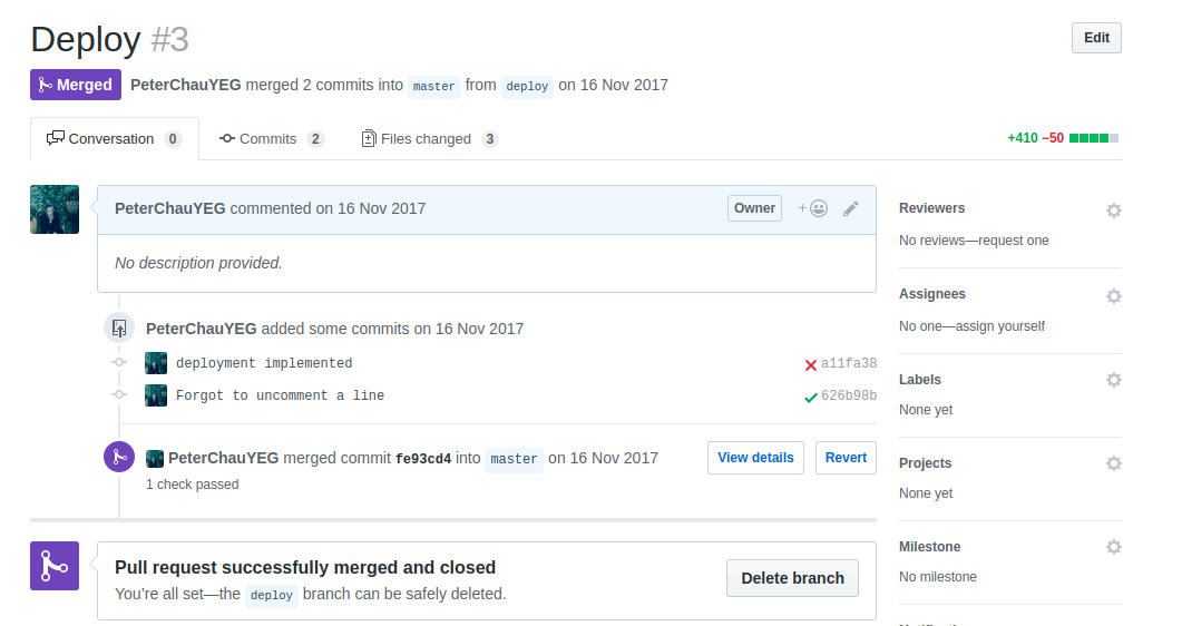 Merge Deploy Pull Request