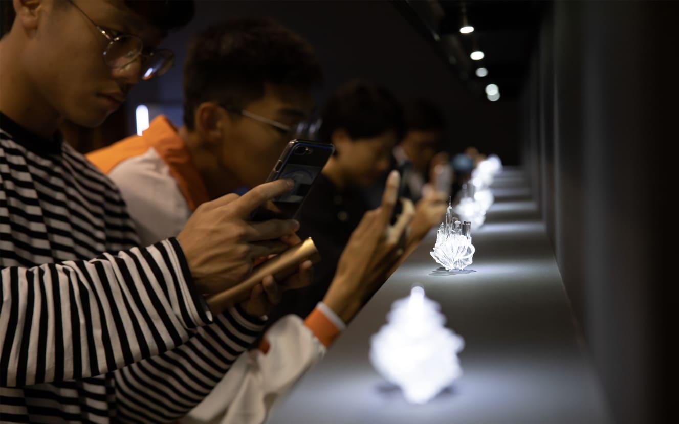 Fair visitors at Maho Kubota Gallery's booth, Art Basel Hong Kong 2019.