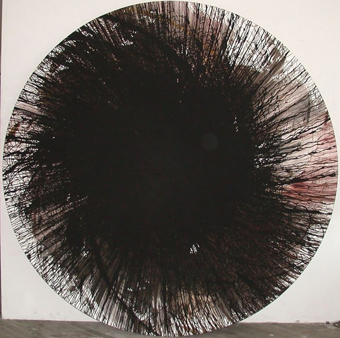 Rotationsbild / Spin painting by Alfons Schilling