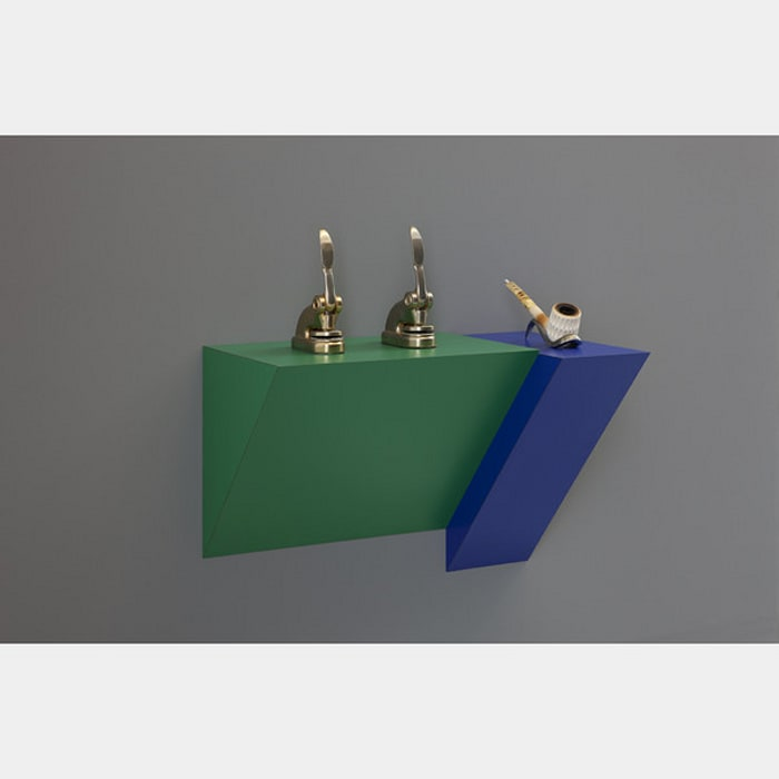 Untitled (punches, pipe) by Haim Steinbach