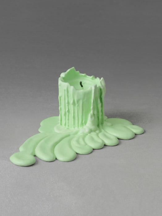 still.life. (aquamarine green candle) by Ugo Rondinone