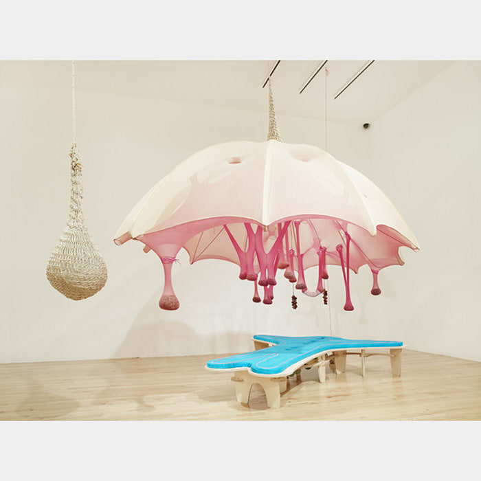 Egg Bed Crystal Shell by Ernesto Neto