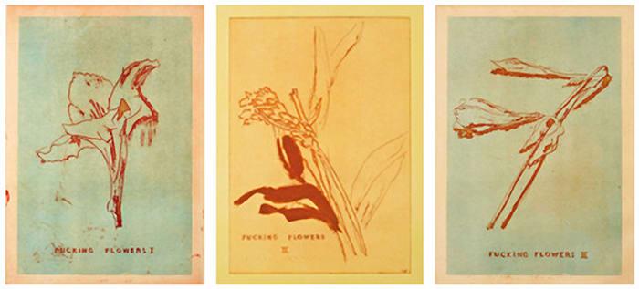 Fucking Flowers I, II, III by Thomas Schütte