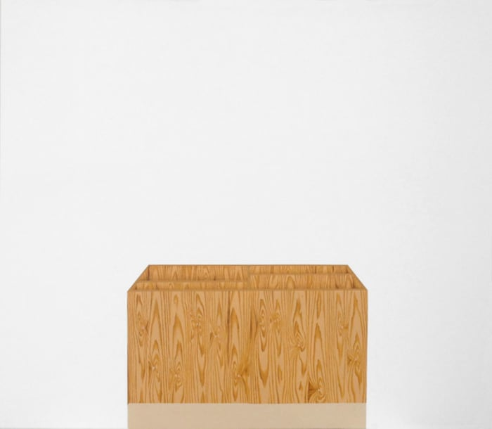 Untitled (box with dividing lines) by Valdirlei Dias Nunes