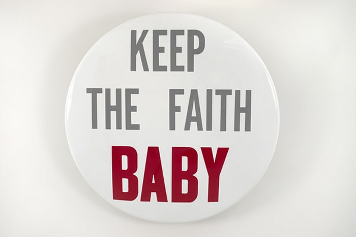 Keep the Faith Baby (button) by Hank Willis Thomas