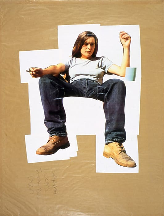 Self-portrait by Sarah Lucas