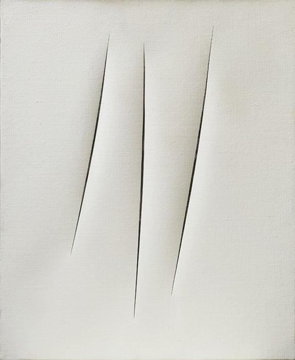 Concetto spaziale, Attese by Lucio Fontana
