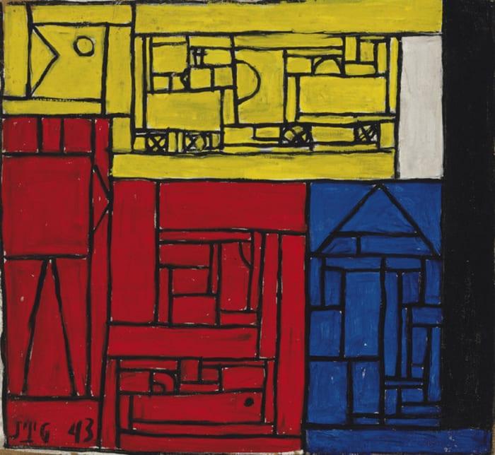 Constructivo a cinco tonos by Joaquin Torres Garcia