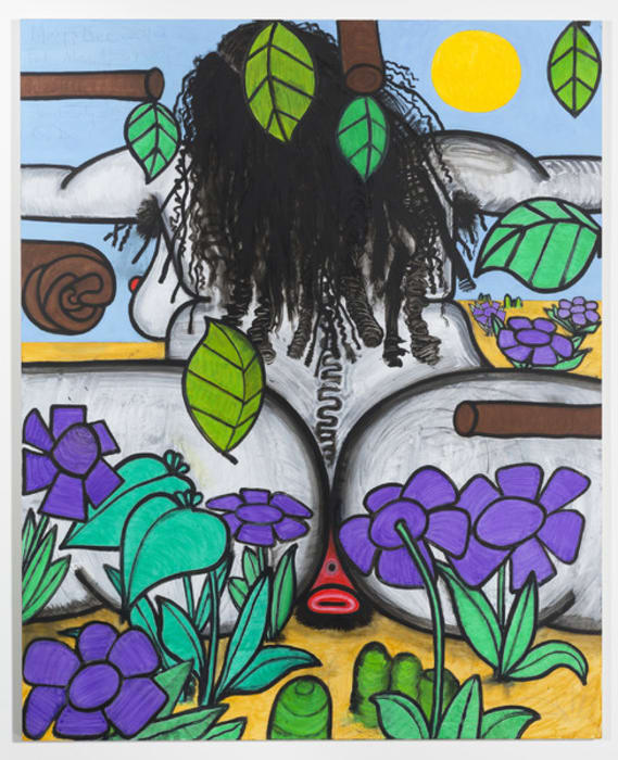 In the Flowers (Wednesday) by Carroll Dunham