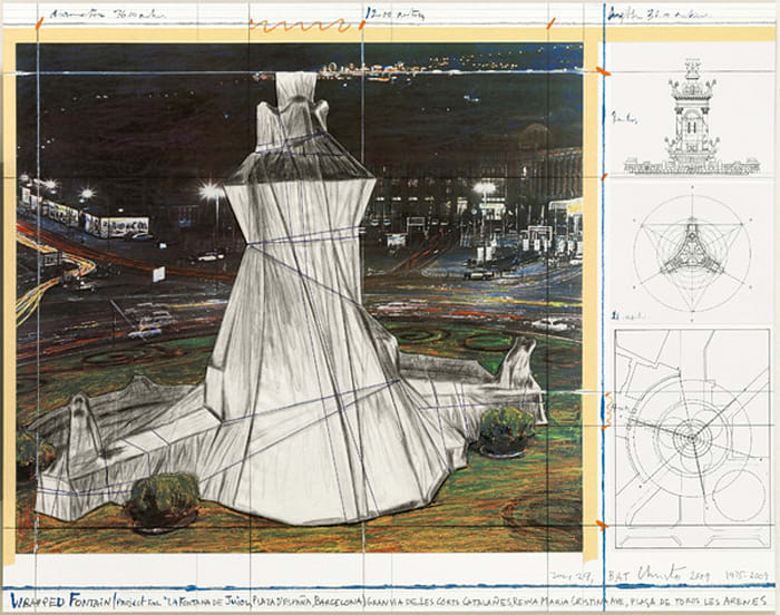 Wrapped Fountain by Christo