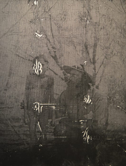 Gun-metal grey H142: First female aboriginal seen and captured. Camp XL, Yarruudang II (dream) by Brook Andrew