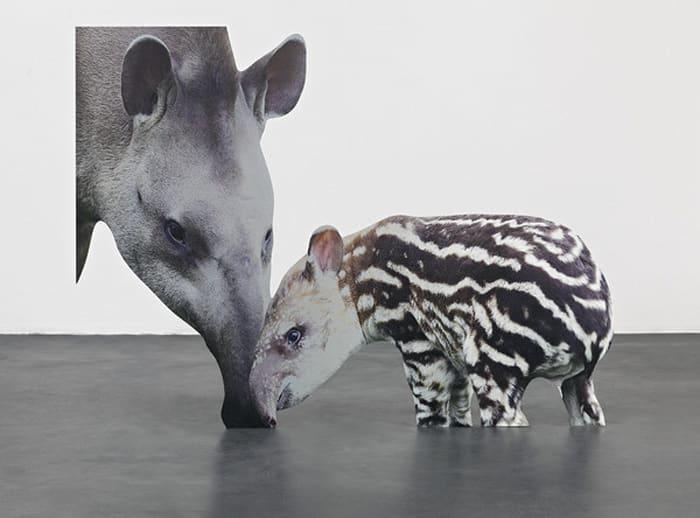 Approximation (tapir) by Katja Novitskova