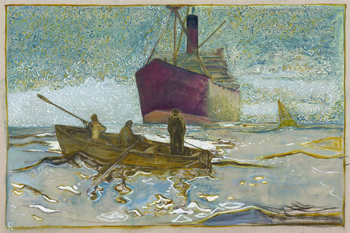 the pilot (after Norman Wilkinson) by Billy Childish