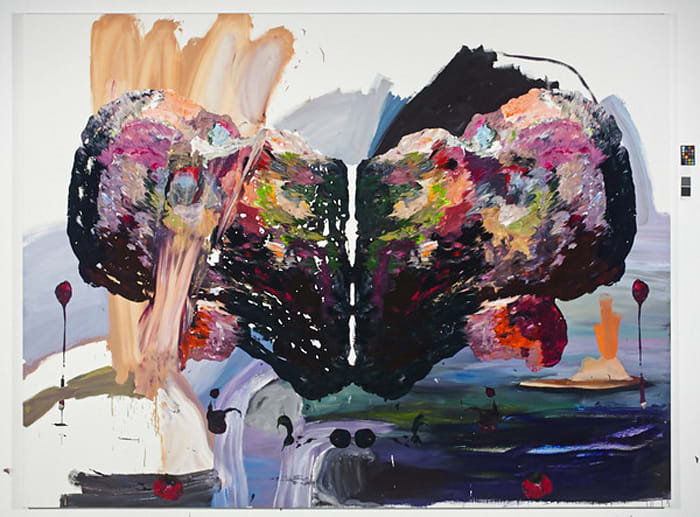 Self with Orange Plants by Ben Quilty