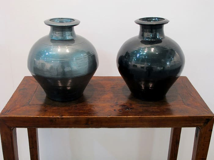 Han Dynasty Vases in Auto Paint by Ai Weiwei