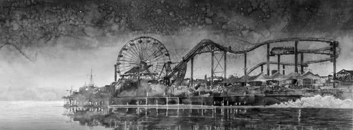 Amusement Park Skyline by Hans Op de Beeck