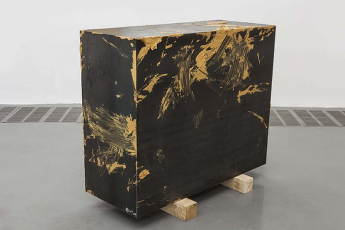 Untitled – Iron Case with Gold Paint by Yang Xinguang