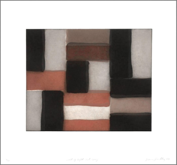 Wall of light red grey by Sean Scully