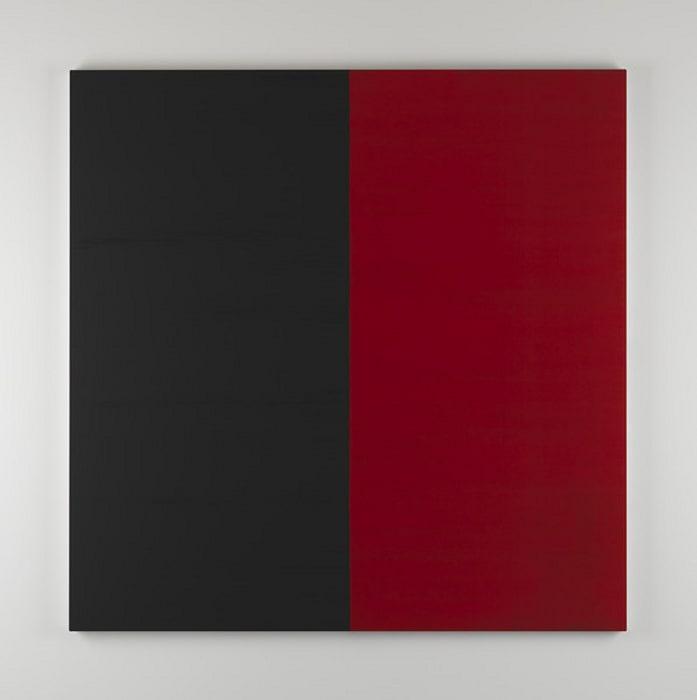 Untitled Lamp Black No 7 by Callum Innes