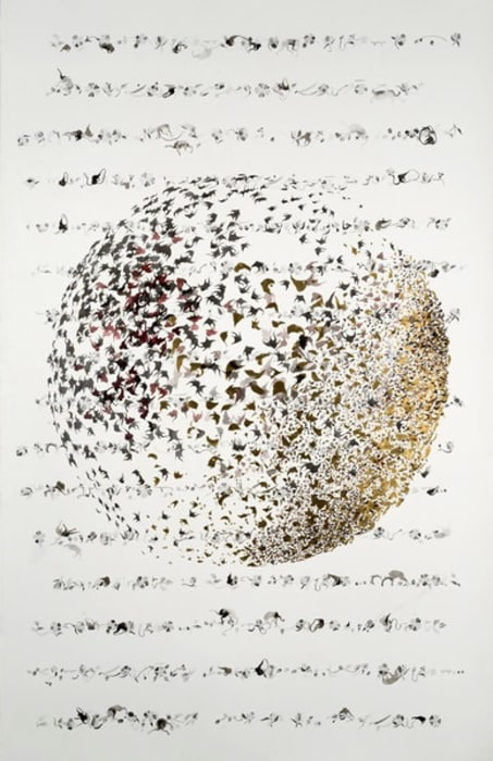 Singing Sphere II by Shahzia Sikander