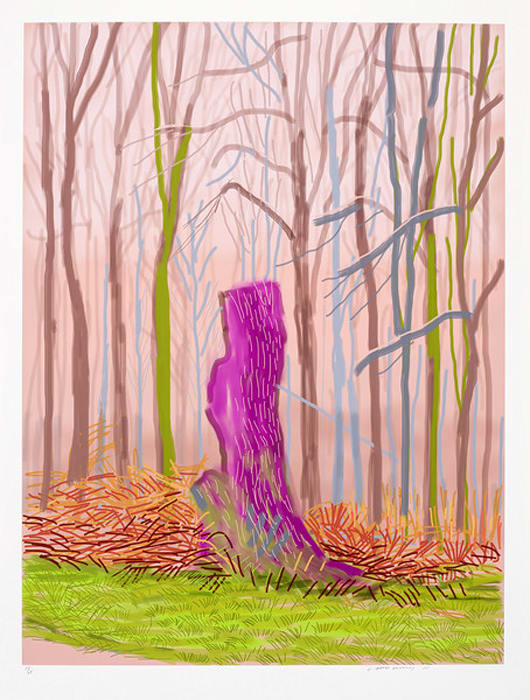 The Arrival of Spring in Woldgate, East Yorkshire in 2011 (twenty eleven) - 15 March by David Hockney