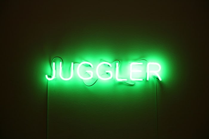 Juggler by Jonathan Monk