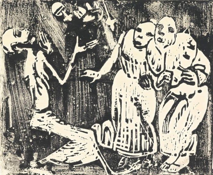 Tod als Jongleur (Revolution) by Christian Rohlfs