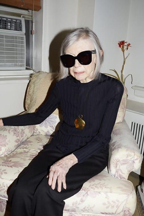 Joan Didion, Celine Campaign Spring Summer 2015, New York 2014 by Juergen Teller