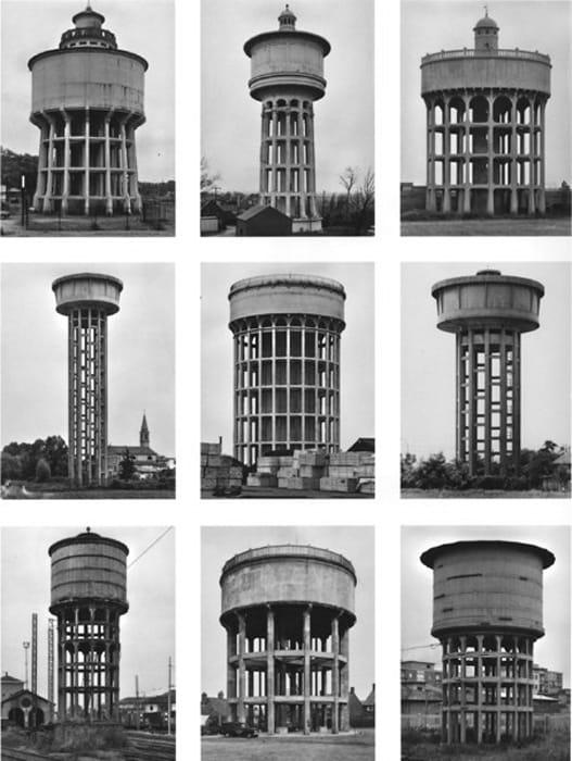 Typology Watertowers by Bernd & Hilla Becher