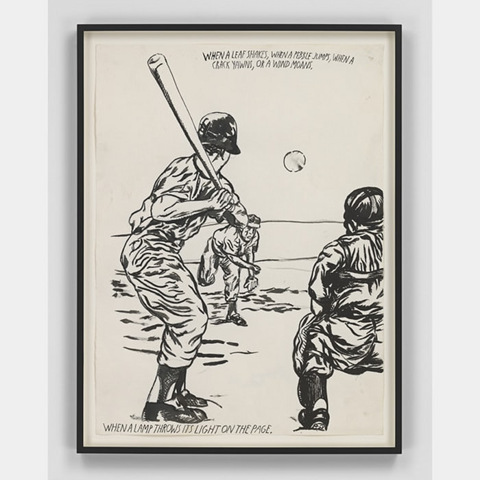 No Title (When a leaf...) by Raymond Pettibon