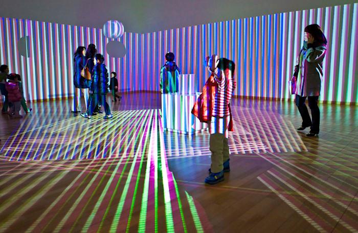 Translucent Chromointerferent Environment by Carlos Cruz-Diez
