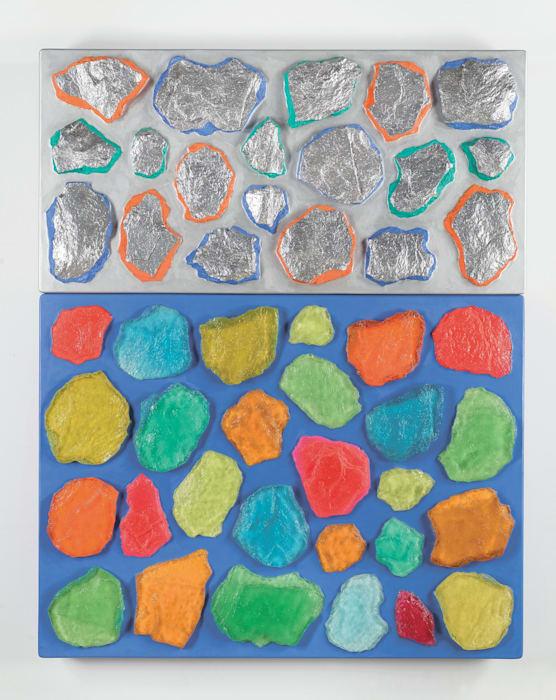 Wall-Wall No. 17 (Ultramarine/Silver) by Ashley Bickerton