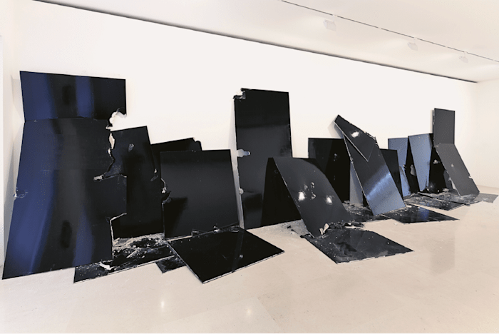 13 Shattered Panels (for Joey Ramone) by Steven Parrino