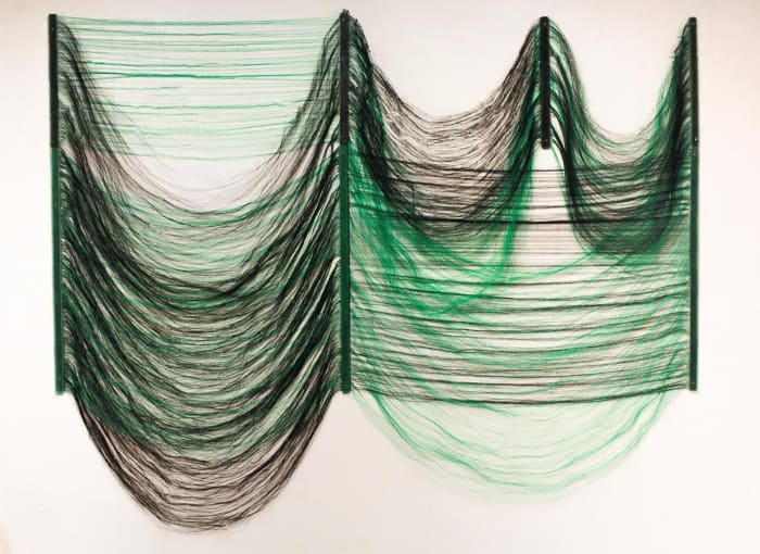 Seaweed Irregular Verde e Preto by Vivian Caccuri