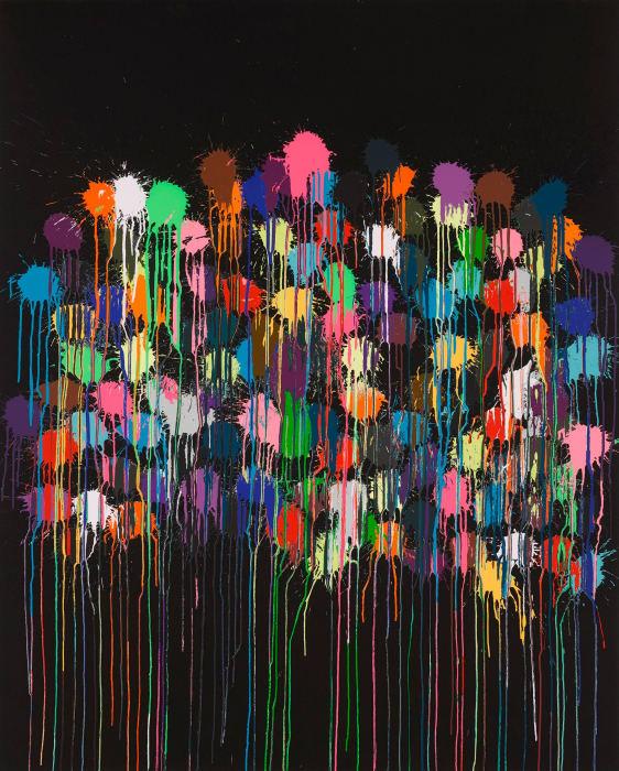 Colour Splat Bang by Ian Davenport