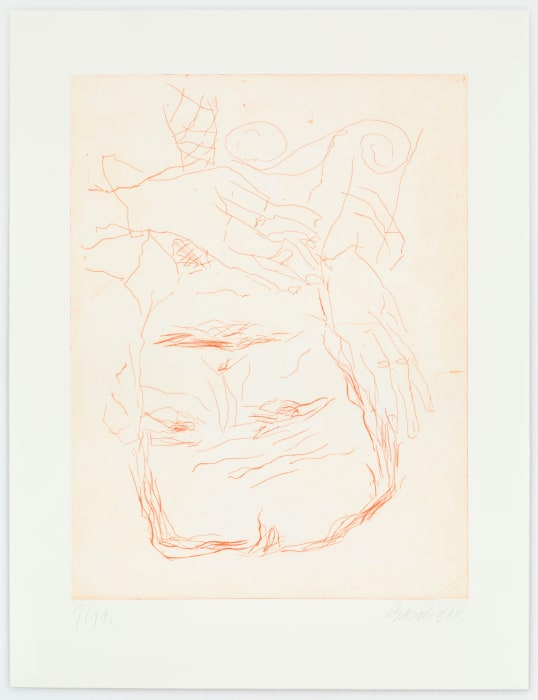 Lucio Fontana by Georg Baselitz
